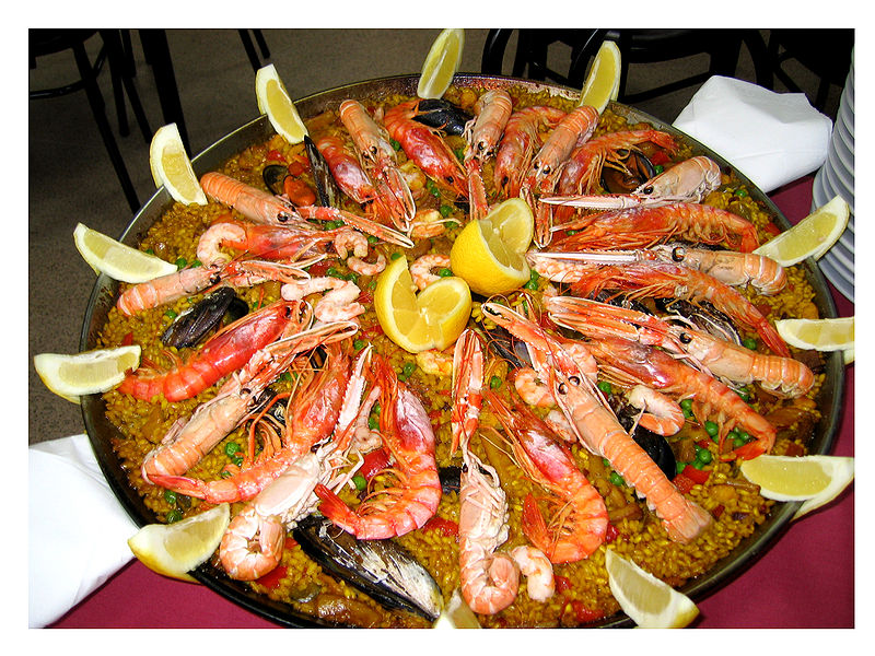 Shellfish paella photo manuel m vicente flikr
