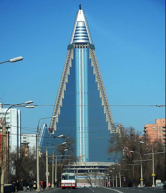 Ryugyong Hotel, North Korea travel bucket list